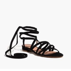 <Madewell> Holly Suede Lace Up Sandal